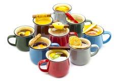 Mug of hot mulled wine Stock Photography