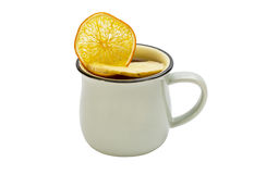 Mug of hot mulled wine Royalty Free Stock Photo