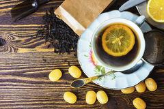 Mug of hot sweet tea Stock Photography