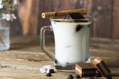 Mug of ice coffee with milk Royalty Free Stock Photography