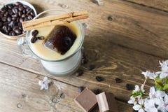 Mug of ice coffee with milk Stock Photos