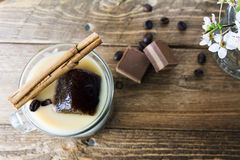 Mug of ice coffee with milk Royalty Free Stock Images