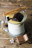 Mug of ice coffee with milk Stock Photo