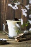 Mug of ice coffee with milk Stock Photography
