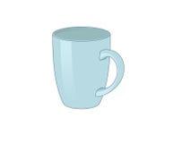 Mug. Illustration of a blue ceramic mug vector illustration