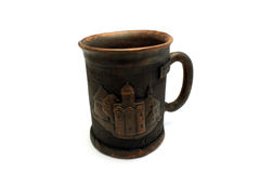 Mug with the image of the church Royalty Free Stock Photos