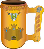 The mug of the king vector illustration