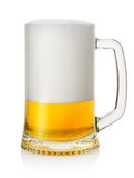 Mug with lager beer Royalty Free Stock Photography