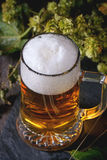 Mug of lager beer Stock Photos