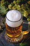 Mug of lager beer Stock Photos