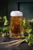 Mug of lager beer Stock Photography