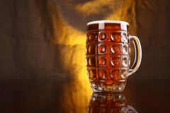 Mug of light beer Royalty Free Stock Image