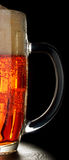 A mug of light beer. Royalty Free Stock Photos