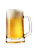 Mug light foamy beer Royalty Free Stock Images