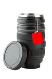 Mug made from professional photographic lens Royalty Free Stock Photo