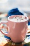 Mug with marshmallows Stock Photos