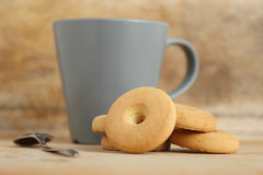 Mug of milk with cookies Royalty Free Stock Photo