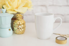 Mug Mockup. Coffee Cup Template. Coffee Mug Printing Design Template. White Mug Mockup. Blank Mug. Styled Stock Product Image. Sty. Led Stock Photography White Stock Photo
