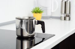 Mug in modern kitchen Royalty Free Stock Images