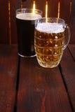 Mug and pint of beer Stock Photo