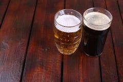 Mug and pint of beer Stock Photography