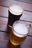 Mug and pint of beer Royalty Free Stock Photo
