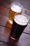 Mug and pint of beer Stock Image