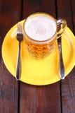 Mug on a plate Royalty Free Stock Image