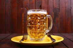 Mug on a plate Royalty Free Stock Images