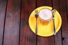 Mug on a plate Stock Image