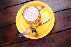 Mug on a plate Royalty Free Stock Photo