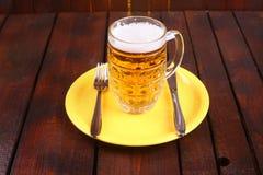 Mug on a plate Stock Photo