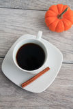 Mug of pumpkin spice coffee Stock Photography