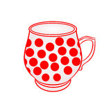 Mug of with red dots vector Royalty Free Stock Photo