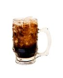Mug of Root Beer. A frosty mug of rootbeer with ice to quench your thirst Royalty Free Stock Photo