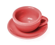 Mug with saucer Royalty Free Stock Images