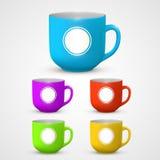 Mug set colors Royalty Free Stock Photography