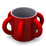 Mug with several handles, 3d Stock Photography