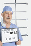 Mug shot of senior male surgeon Royalty Free Stock Image