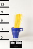 Mug shot spaghetti Stock Photo