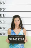 Mug Shot Of Woman Stock Image