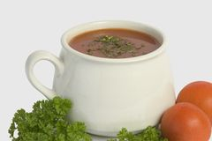 Mug of soup Stock Photography