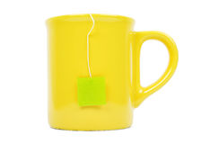 Mug and tea bag Royalty Free Stock Photography