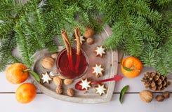 Mug of tea with christmas cookies Stock Image
