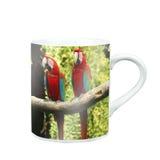 Mug Of Tea Or Coffee with photo screen Royalty Free Stock Photos