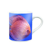 Mug Of Tea Or Coffee with photo screen Royalty Free Stock Photo