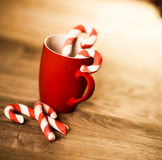 Mug Of Tea Or Coffee. Sweets. Christmas Decoration Royalty Free Stock Photography