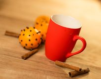 Mug Of Tea Or Coffee. Sweets. Royalty Free Stock Photo