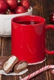 Mug Of Tea Or Coffee. Sweets. Christmas Royalty Free Stock Images