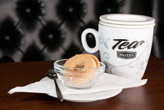 Mug of Tea and Cookies Stock Image